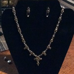 Jewelry - Sterling silver citrine necklace and earrings
